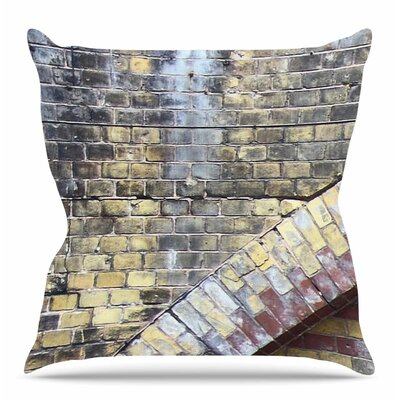 Painted Grunge Brick Wall by Susan Sanders Throw Pillow Size: 16 H x 16 W x 4 D