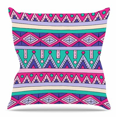 Tribal Throw Pillow Size: 20 H x 20 W x 4 D