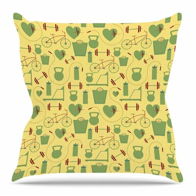 Fitness by Stephanie Vaeth Throw Pillow Size: 20 H x 20 W x 4 D