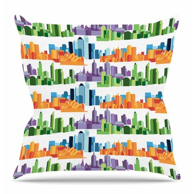 Australian Cities by Stephanie Vaeth Throw Pillow Size: 18 H x 18 W x 4 D