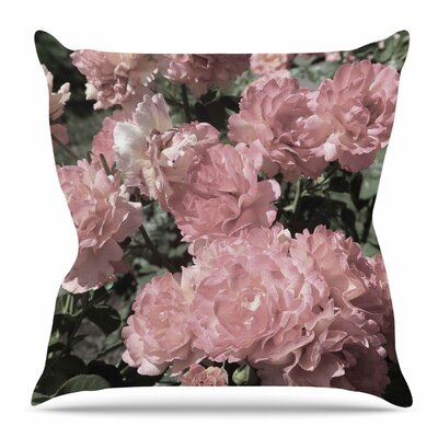 Blush Flowers by Susan Sanders Throw Pillow Size: 18 H x 18 W x 4 D