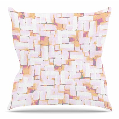 Cobble by Rachel Watson Throw Pillow Size: 18 H x 18 W x 4 D