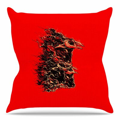 Bull by BarmalisiRTB Throw Pillow Size: 26 H x 26 W x 4 D
