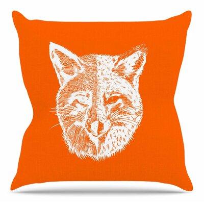 Foxface by BarmalisiRTB Throw Pillow Size: 26 H x 26 W x 4 D