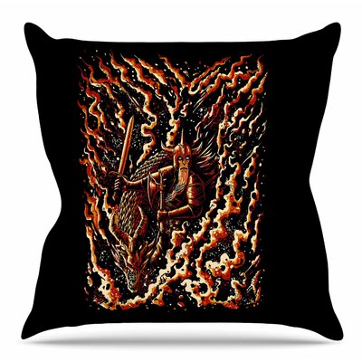 Defense by BarmalisiRTB Throw Pillow Size: 16 H x 16 W x 4 D