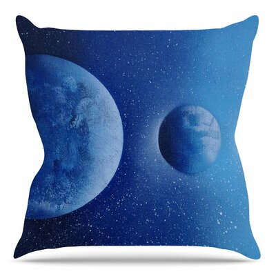Interplanetary Alignments by Infinite Spray Art Throw Pillow Size: 16 H x 16 W x 4 D