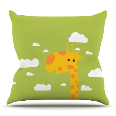 Baby Giraffe by Strawberringo Throw Pillow