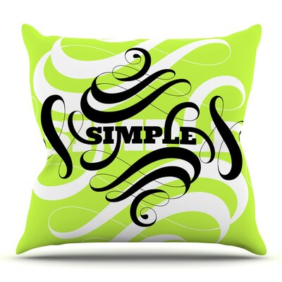 Simple by Roberlan Throw Pillow