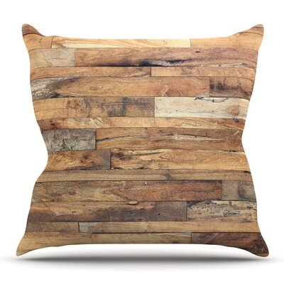 Campfire Wood by Susan Sanders Throw Pillow