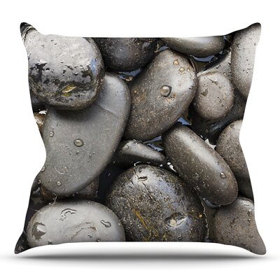 Skipping Stone by Susan Sanders Throw Pillow