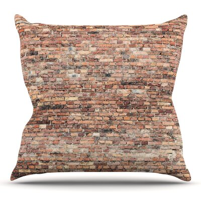 Rustic Bricks by Susan Sanders Throw Pillow