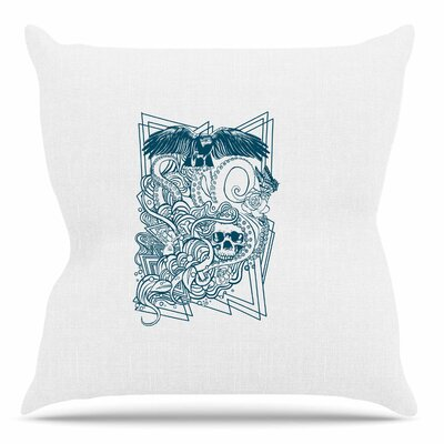 Tidal Wave by BarmalisiRTB Throw Pillow Size: 18 H x 18 W x 4 D