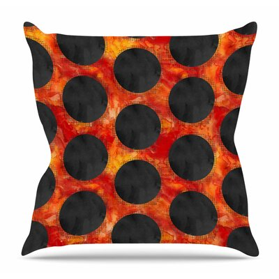 Volcanic Holes by Zara Martina Mansen Throw Pillow Size: 18 H x 18 W x 4 D
