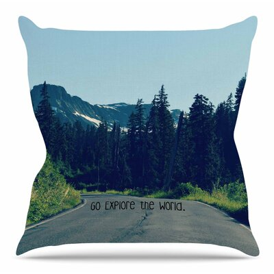 Go Explore the World by Robin Dickenson Throw Pillow