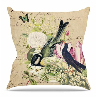 Vintage Tea by Suzanne Carter Throw Pillow Size: 20 H x 20 W x 4 D