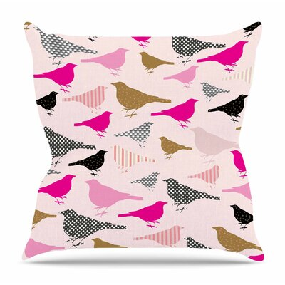 Chirp by Suzanne Carter Throw Pillow Size: 20 H x 20 W x 4 D