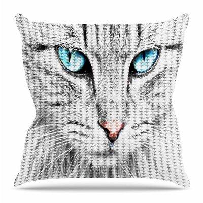 Cat Throw Pillow Size: 26 H x 26 W x 4 D