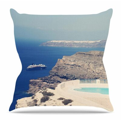 Greek Paradise by Sylvia Coomes Throw Pillow Size: 26 H x 26 W x 4 D