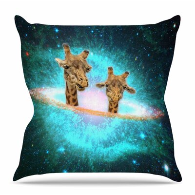 Fred & Larry by Suzanne Carter Throw Pillow Size: 16 H x 16 W x 4 D