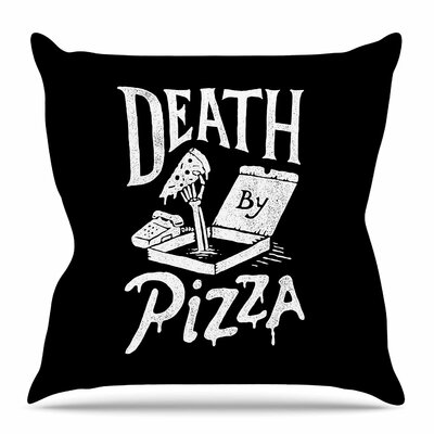 Death By Pizza by Tatak Waskitho Throw Pillow Size: 20 H x 20 W x 4 D