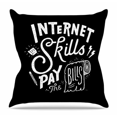 Pay the Bills by Tatak Waskitho Throw Pillow Size: 26 H x 26 W x 4 D