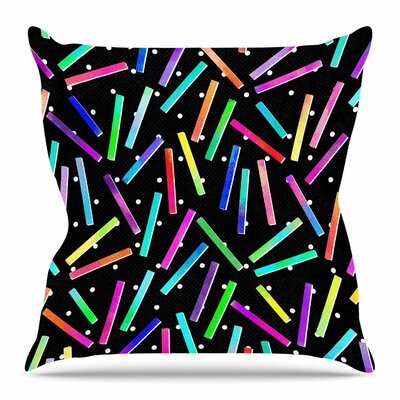 Confetti Party by Tracey Coon Throw Pillow Size: 16 H x 16 W x 4 D