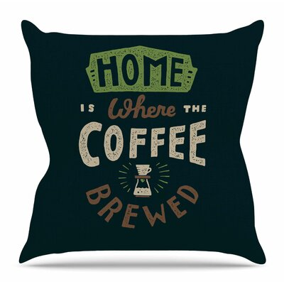 Home is Where by Tatak Waskitho Throw Pillow Size: 20 H x 20 W x 4 D