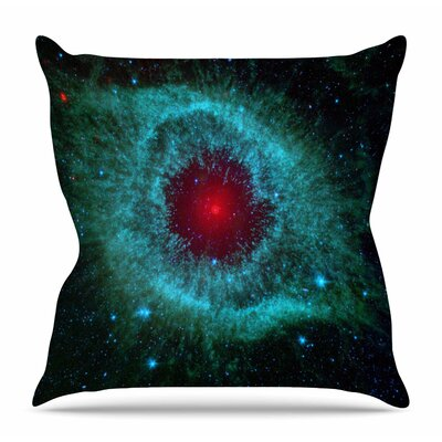 Helix Nebula by Suzanne Carter Throw Pillow Size: 26 H x 26 W x 4 D