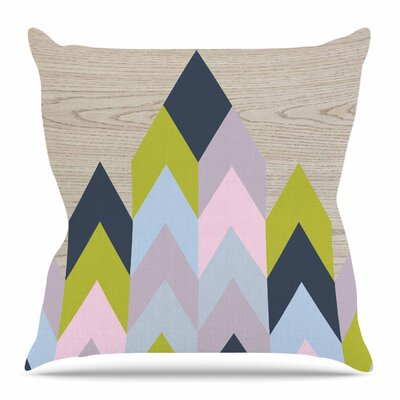 Woodgrain by Suzanne Carter Throw Pillow Size: 20 H x 20 W x 4 D