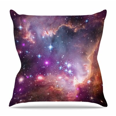 Cosmic Cloud by Suzanne Carter Throw Pillow Size: 20 H x 20 W x 4 D