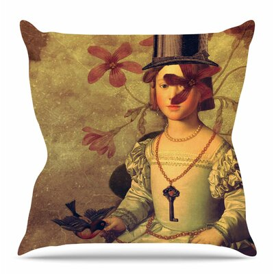 The Key by Suzanne Carter Throw Pillow Size: 16 H x 16 W x 4 D