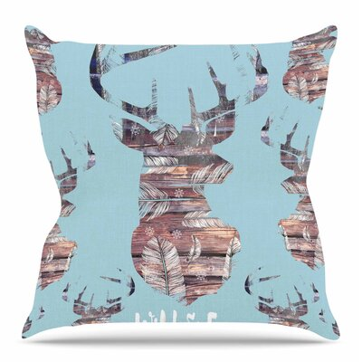 Wild and Free by Suzanne Carter Throw Pillow Size: 26 H x 26 W x 4 D