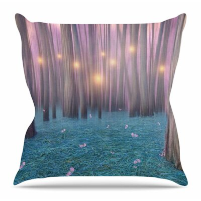 Feather Dance by Viviana Gonzalez Throw Pillow Size: 18 H x 18 W x 4 D