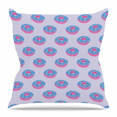 Pastel Doughnut Heaven by Vasare Nar Throw Pillow Size: 20 H x 20 W x 4 D