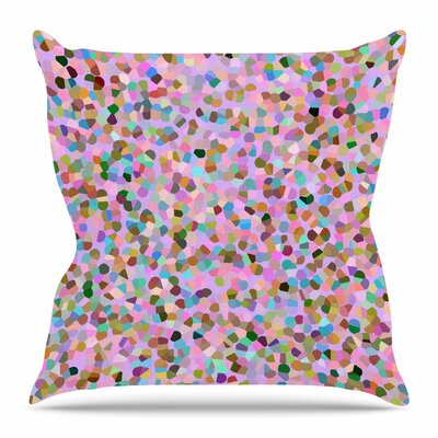 Candy Confetti by Vasare Nar Throw Pillow Size: 18 H x 18 W x 4 D