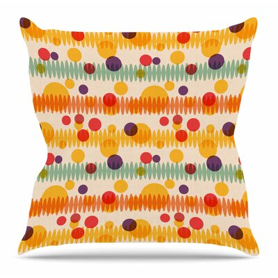 Bubble Stripes Fun by Yenty Jap Throw Pillow Size: 26 H x 26 W x 4 D