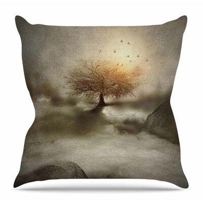 Lone Tree Love IV by Viviana Gonzalez Throw Pillow Size: 26 H x 26 W x 4 D
