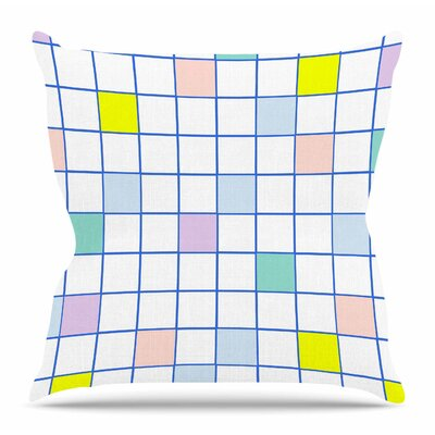 Pastel Windowpane Grid by Vasare Nar Throw Pillow Size: 20 H x 20 W x 4 D