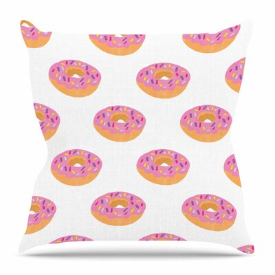 Doughnut Heaven by Vasare Nar Throw Pillow Size: 18 H x 18 W x 4 D