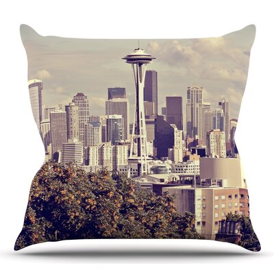 Space Needle by Sylvia Cook Throw Pillow Size: 16 H x 16 W x 4 D