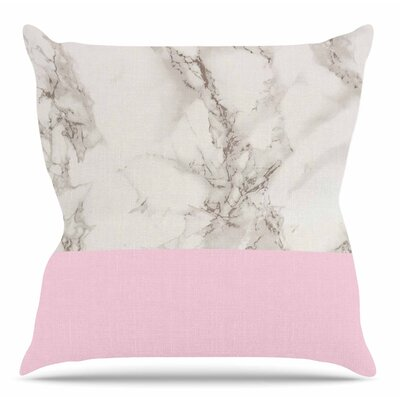 Marble by Suzanne Carter Throw Pillow Color: Pink, Size: 20 H x 20 W x 4 D