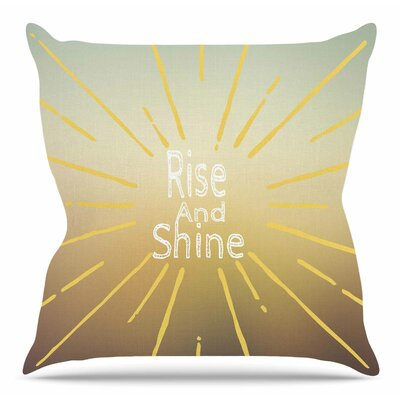 Rise and Shine by Suzanne Carter Throw Pillow Size: 20 H x 20 W x 4 D