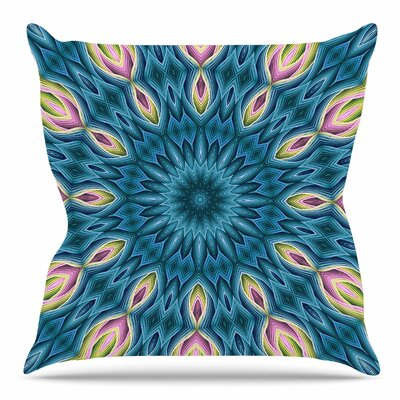 Zapped by Sylvia Cook Throw Pillow Color: Teal