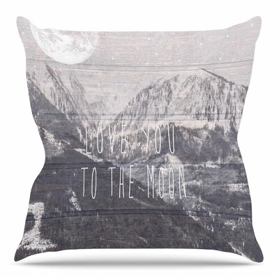 Love You to the Moon by Suzanne Carter Throw Pillow Size: 26 H x 26 W x 4 D