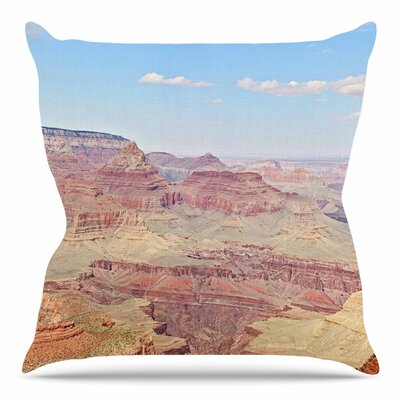 Grand Canyon Panoramic by Sylvia Coomes Throw Pillow Size: 20 H x 20 W x 4 D