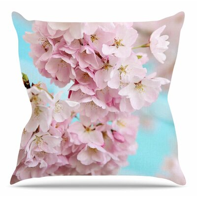 A Pastel Spring by Sylvia Cook Throw Pillow Size: 16 H x 16 W x 4 D