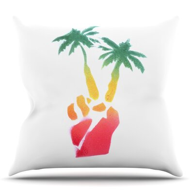 Peace Palms by Infinite Spray Art Throw Pillow