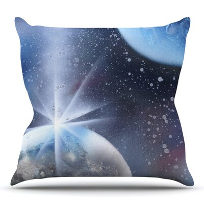 Intergalactic by Infinite Spray Art Throw Pillow