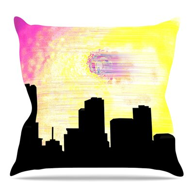 Skylined by Infinite Spray Art Throw Pillow