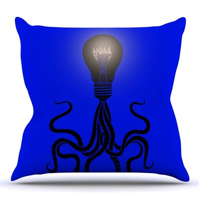 Octopus Bulb by BarmalisiRTB Throw Pillow